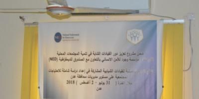 ندوة شبابية لدراسة الاحتياجات المجتمعية في مديريات عدن