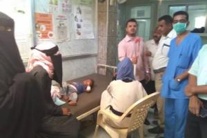 نائب مدير مكتب الصحة بردفان يتفقد قسم الكوليرا في مستشفى ردفان العام