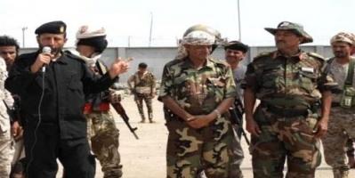 قائد المقاومة الجنوبية الحالمي يتفقد لواء النخبة الشبوانية في عدن