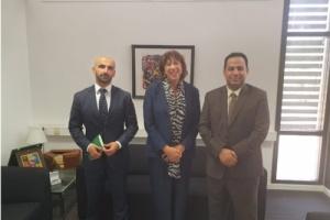 ممثل خارجية الانتقالي يلتقي سفيرة مملكة هولندا لدى اليمن