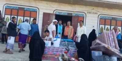 تدشين توزيع المواد الايوائية للنازحين في #قعطبة