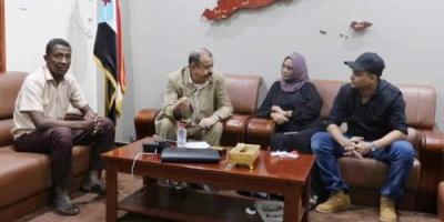 اللواء بن بريك يلتقي أعضاء قيادة مجلس الحراك الثوري تصحيح المسار بالعاصمة عدن