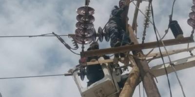 انتهاء اعمال الصيانة الروتينية والوقائية في خط كهرباء انماء 2 بعدن