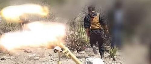 *في عملية أستباقية ونوعيه... مدفعيه لواء الشوبجي تستهدف تجمعا للمليشيات وتدمير طقما عسكريا*