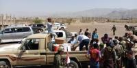 إنتقالي مديرية الحُصين يُسّير قافلة غذائية كبيرة دعماً للمرابطين في جبهات محور الضالع