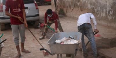 تواصل حملة نظافة انتقالي صيرة ليومها الرابع