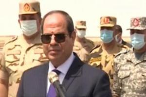 السيسي: تجاوز سرت والجفرة خط أحمر بالنسبة لمصر