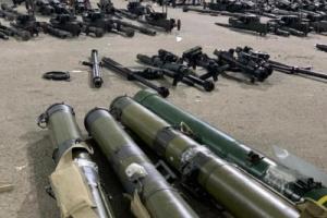 صور الاسلحة والمناظير واليات الدرون الايرانية المضبوطة في سواحل حضرموت