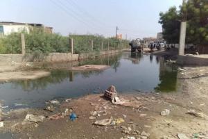 مياه الصرف الصحي تحاصر منطقة الوهط