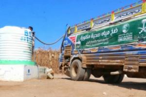 480 ألف لتر مياه من سلمان للإغاثة لمديرية الخوخة