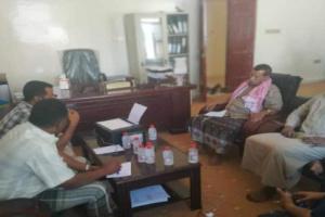 قيادة إنتقالي المهرة تزور مكتب التخطيط والتعاون الدولي بالمحافظة