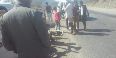 إصابة شخص في حادث سير بردفان