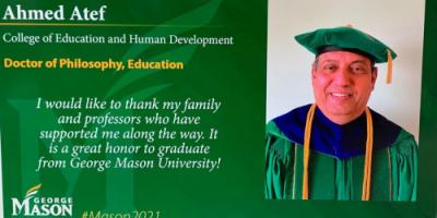 جامعة امريكية تمنح درجة الدكتوراه للأستاذ أحمد علي عاطف
